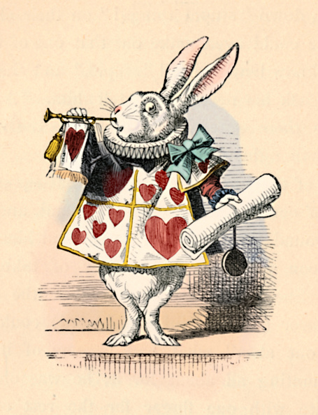 Fairy Tale「A Rabbit As Court Official Blowing A Trumpet For An Announcement, 1889」:写真・画像(5)[壁紙.com]