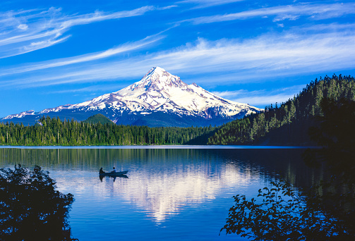 Volcano「Spring morning with the reflection of  Mt. Hood, OR」:スマホ壁紙(14)