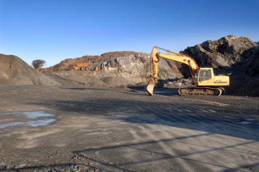 Mining - Natural Resources「Scenic shot of a quarry being dug」:スマホ壁紙(5)