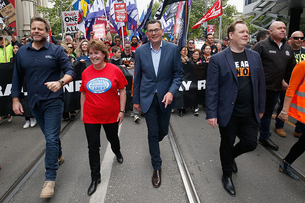 Darrian Traynor「Thousands March Through Melbourne CBD Calling For Better Wages」:写真・画像(3)[壁紙.com]