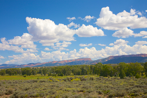 Summer「Red Canyon field, cliffs and cloudscape, Utah」:スマホ壁紙(14)