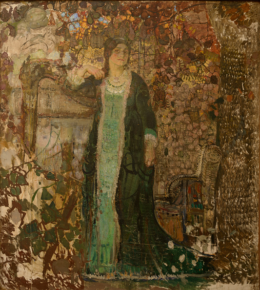 Art Product「Harpist Portrait Of Tatiana Sergeevna Bartseva (1886-1984) 1908」:写真・画像(2)[壁紙.com]