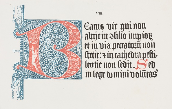 Capital Letter「Art Of The Lithograph: Psalter- Initial B」:写真・画像(2)[壁紙.com]
