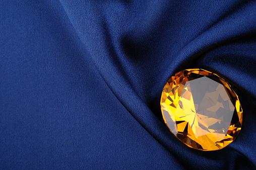 Diamond Shaped「Amber diamond on blue satin」:スマホ壁紙(12)