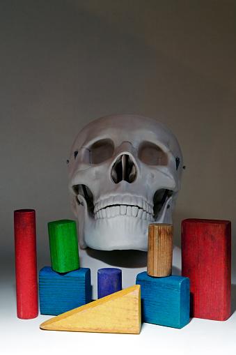 ドクロ「Building Blocks and Human Skull」:スマホ壁紙(3)