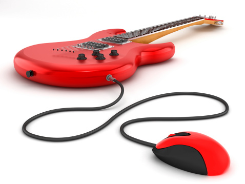 Clip Art「Online guitar lessons」:スマホ壁紙(16)