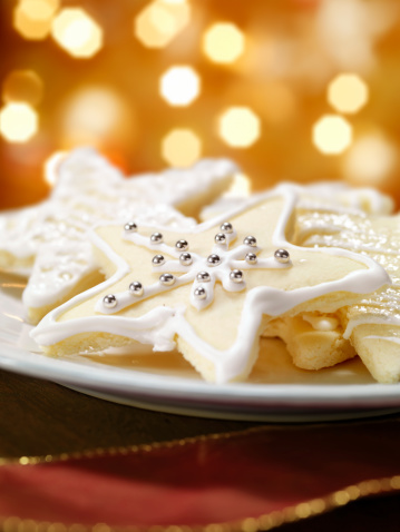 Cookie「Star Shaped Sugar Cookies at Christmas Time」:スマホ壁紙(8)