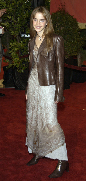 Leather Jacket「Emma Watson  At Harry Potter and the Chamber of Secrets Premiere」:写真・画像(1)[壁紙.com]