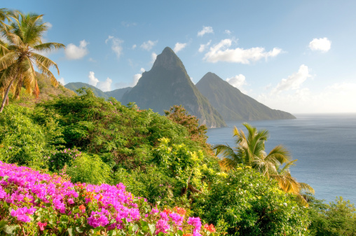St「St. Lucia's Twin Pitons at Sunrise」:スマホ壁紙(15)