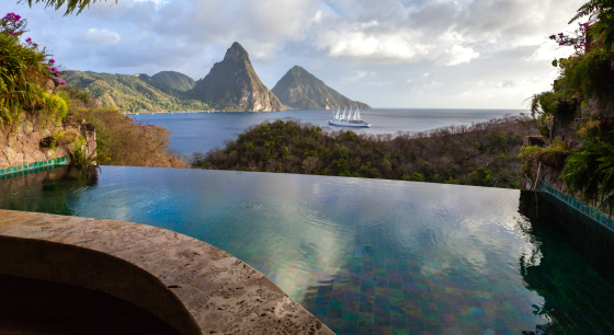 Soufriere「St. Lucia's Twin Pitons from Jade Mountain」:スマホ壁紙(8)