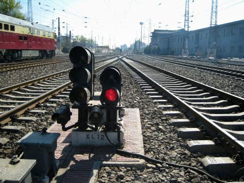 鉄道・列車「Railroad track,Beijing,China」:スマホ壁紙(2)