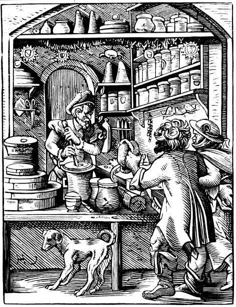 The Druggist's Shop, 1568. Artist: Jost Amman:ニュース(壁紙.com)