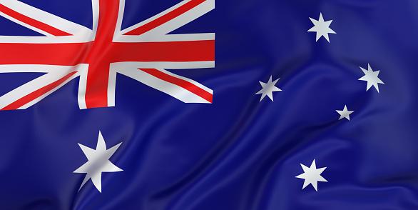 Patriotism「Majestic Australian Flag」:スマホ壁紙(4)