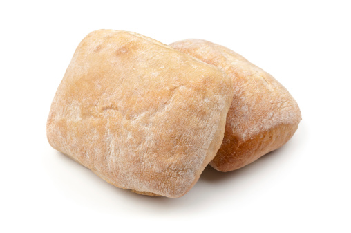 Ciabatta「Italian ciabatta bread on white」:スマホ壁紙(4)