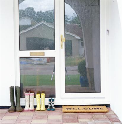 Front Door「Family's wellington boots lined up by front door」:スマホ壁紙(11)
