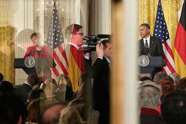 French Press「Obama And German Chancellor Merkel Hold Joint Press Conference At White House」:写真・画像(14)[壁紙.com]