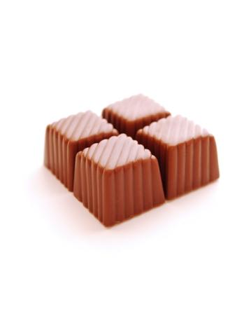 Milk Chocolate「cube chocolate candies. Closeup」:スマホ壁紙(14)