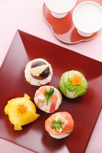 ひな祭り「Sushi balls」:スマホ壁紙(19)