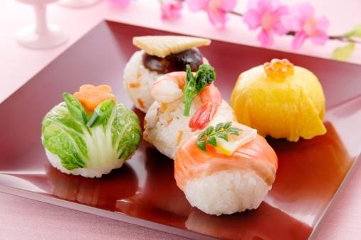 ひな祭り「Sushi balls」:スマホ壁紙(4)