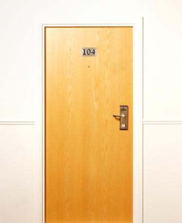 Number「Closed hotel door.」:スマホ壁紙(11)