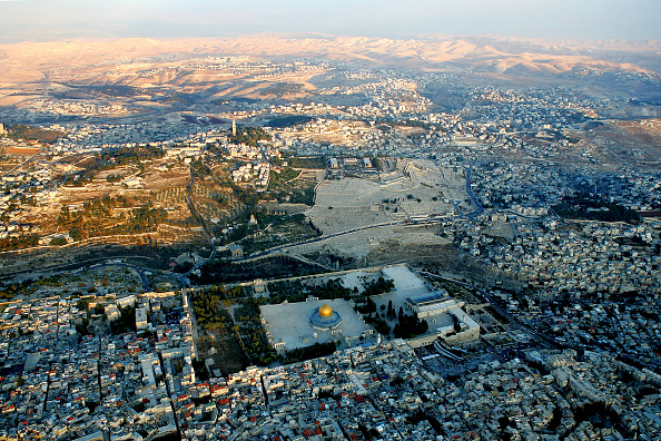 High Angle View「Aerial Views Of Jerusalem?s Old City」:写真・画像(3)[壁紙.com]