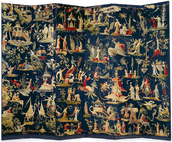 Exoticism「A Pair Of Brussels Chinoiserie Tapestry-Covered Six-Fold Screens」:写真・画像(5)[壁紙.com]