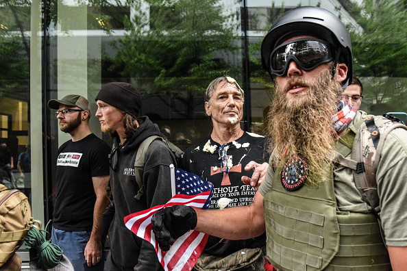 Condiment「Alt Right Group Holds Rally In Portland, Oregon」:写真・画像(8)[壁紙.com]