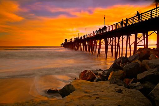 ビーチ「Superb Pier Sunset」:スマホ壁紙(8)