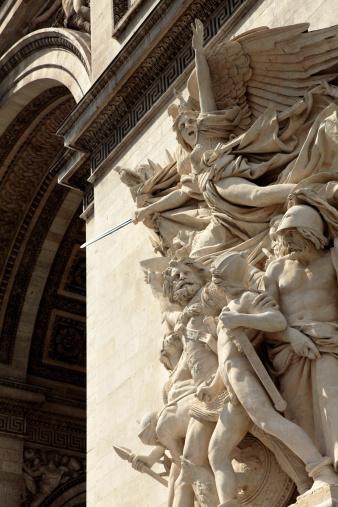 Arc de Triomphe - Paris「Sculptures on Arc De Triomphe」:スマホ壁紙(11)