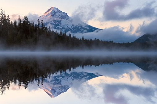 Volcano「Mt. Hood reflections durring sunrise」:スマホ壁紙(7)
