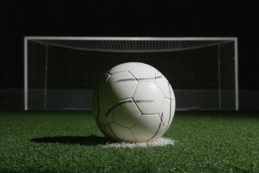 Goal Post「football in front of goal at night」:スマホ壁紙(6)