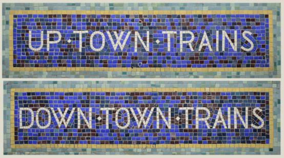 Passenger Train「Historic Tile Mosaic New York City Subway Signs Uptown/Downtown Trains」:スマホ壁紙(17)