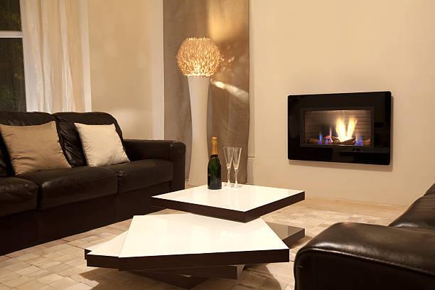Chic, modern living room:スマホ壁紙(壁紙.com)