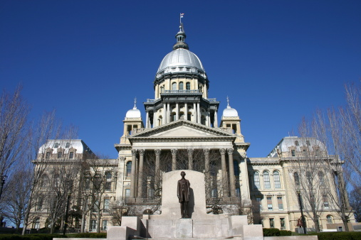 Election「Outside view of the Illinois State Capitol Building」:スマホ壁紙(5)