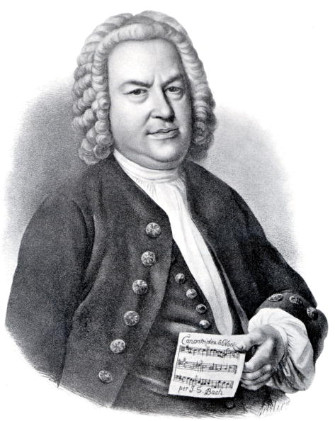 Composer「German organist and composer Johann Sebastian Bach (1685-1750) here holding score of his Canon for six voices , engraving By Schlick」:写真・画像(6)[壁紙.com]