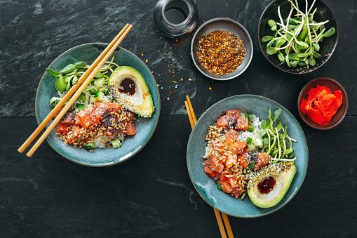 Ginger - Spice「Poke bowls with ponzu dressing」:スマホ壁紙(14)