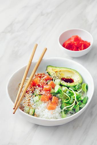 Soy Sauce「Poke bowls with ponzu dressing」:スマホ壁紙(3)