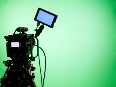 Green Color「Television Camera on Green Screen Background」:スマホ壁紙(5)