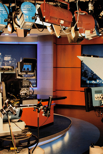 Behind「Television Studio - News Set」:スマホ壁紙(19)