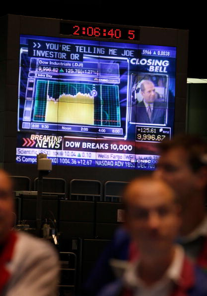 Dow Jones Industrial Average「Dow Jones Average Closes Above 10,000 Mark」:写真・画像(14)[壁紙.com]