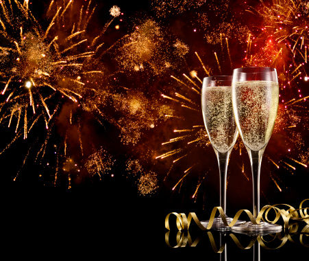 New Year「Champagne Celebration」:スマホ壁紙(14)