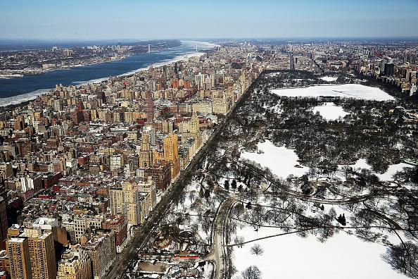 マンハッタン セントラルパーク「Arctic Cold Weather Chills New York City」:写真・画像(2)[壁紙.com]