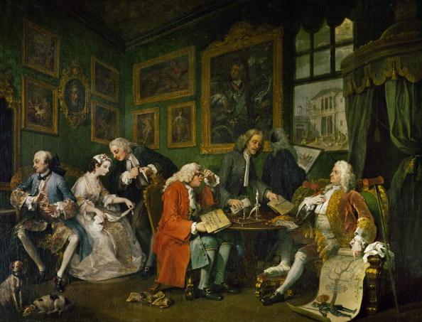 William Hogarth「Mariage a la mode - The settlement」:写真・画像(9)[壁紙.com]