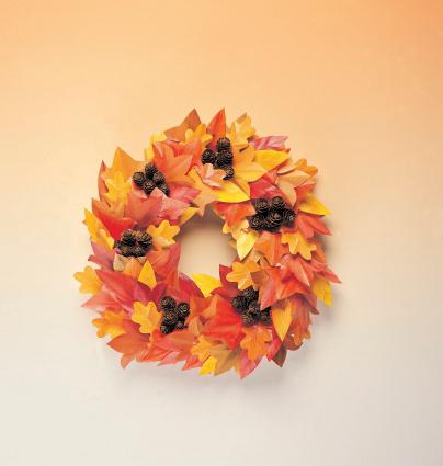 秋「Autumn wreath」:スマホ壁紙(19)