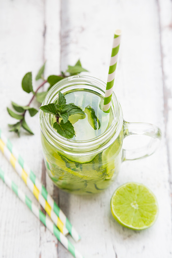 Infused Water「Organic cucumber water with mint and lime」:スマホ壁紙(6)