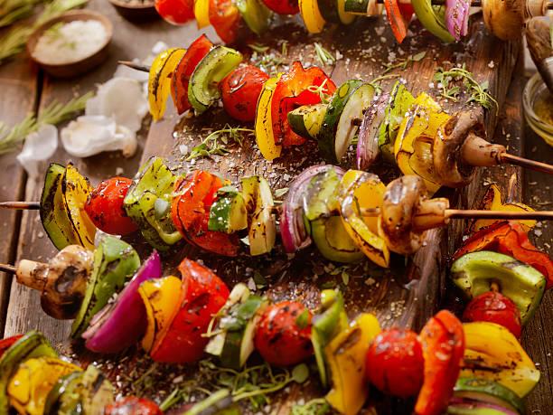 BBQ Vegetable Skewers:スマホ壁紙(壁紙.com)