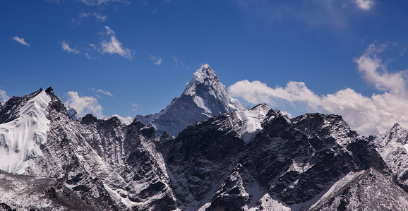 Khumbu「Ama Dablam from Kala Patthar, Gorak Shep, Everest Base Camp Trek, Nepal」:スマホ壁紙(6)