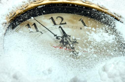 New Year「Winter clock」:スマホ壁紙(15)
