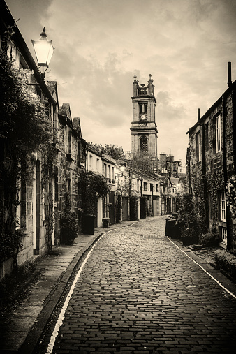 Sepia Toned「Vintage Stockbridge, Edinburgh」:スマホ壁紙(9)