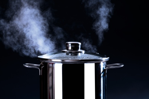 Smoke - Physical Structure「Steaming cooking pot, close-up」:スマホ壁紙(15)